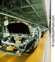 automobile, linea, produzione