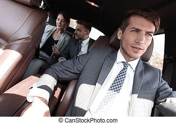 automobile, lusso, affari persone, gruppo