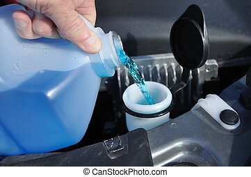 Filling the Windshield Washer Fluid - Automobile Maintenance...