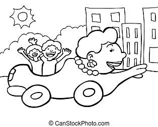 automobile, mamma