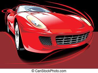 automobile, mio, originale, disegno