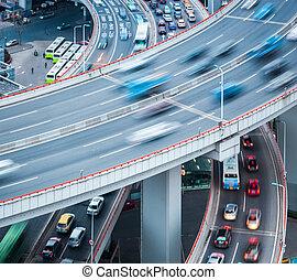 busy traffic closeup