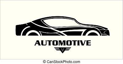 automobile, nero, audace