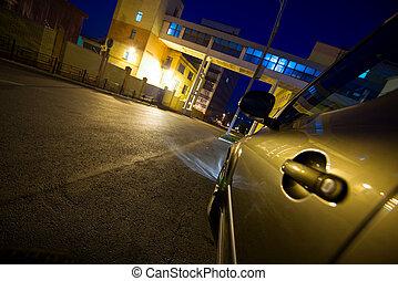 automobile, notte