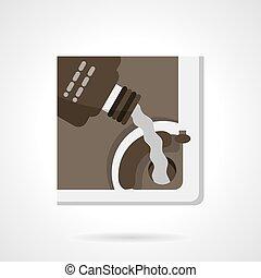 Automobile oil change flat color vector icon - Car service...