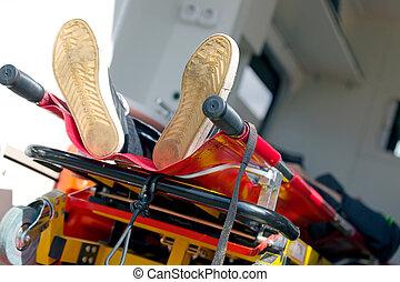 Automobile, paziente, emergenza, ambulanza
