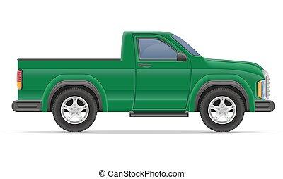 automobile, pickup, vettore, illustrazione