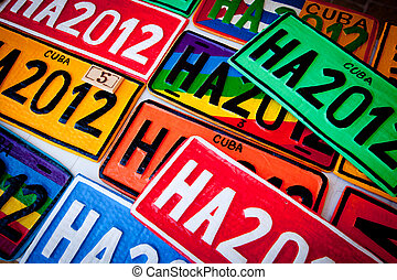Automobile Plates - Colorful Automobile Plates