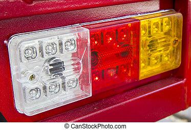 automobile, primo piano, lampada