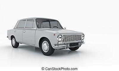 Automobile retro. 3d rendering