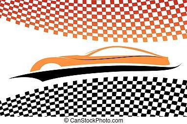 automobile, rosso-arancia