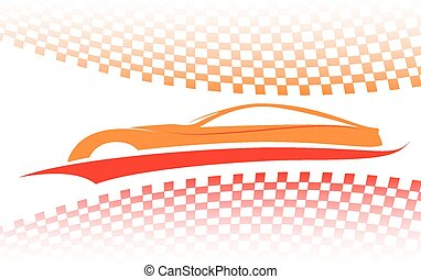 automobile, rosso-arancia, simbolo