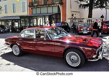 automobile, ruote, filo, vecchio, lusso