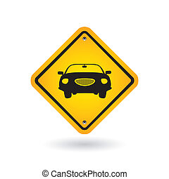 automobile, segno giallo
