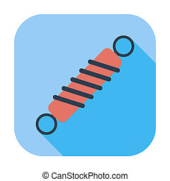 Automobile shock absorber. Single flat color icon. Vector illustration.