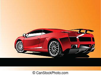 Automobile show with concept-car.