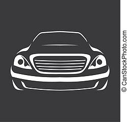 automobile, silhouette