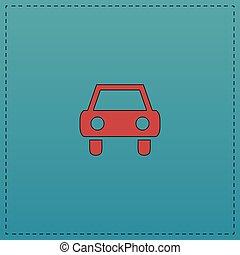 automobile, simbolo, computer