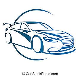 automobile, simbolo, deriva