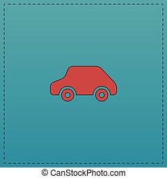 automobile, simbolo, giocattolo, computer