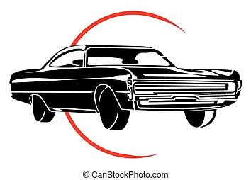 automobile, simbolo, muscolo