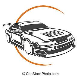 automobile, simbolo, sport