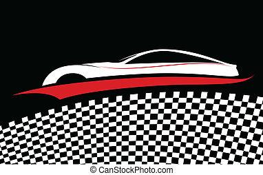 automobile, simbolo, vettore