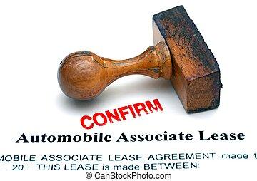 automobile, socio, contratto affitto
