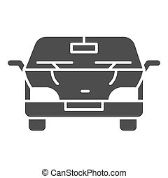 Automobile solid icon. Car vector illustration isolated on white. Vehicle glyph style design, designed for web and app. Eps 10.