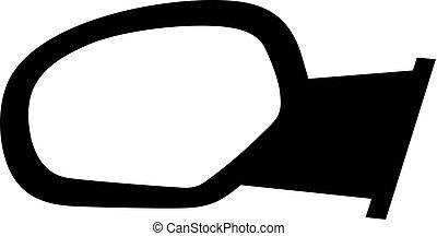 automobile, specchio visualizzazione laterale