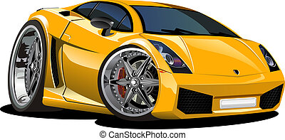 automobile, sport, cartone animato