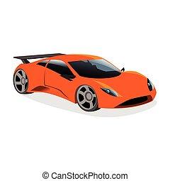 automobile, sport, disegno, illustrazione