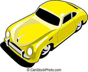 automobile, sport, giallo