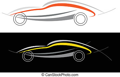 automobile, sport, logotipo