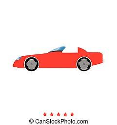automobile, stile, icona, appartamento