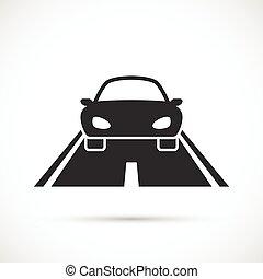 automobile, strada, icona