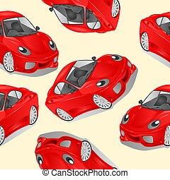automobile, struttura, allegro, seamless, vettore, piccolo