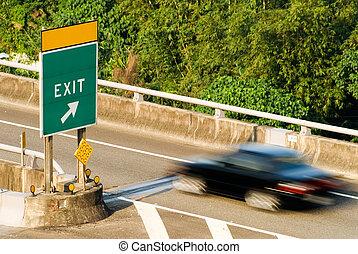 automobile, su, autostrada