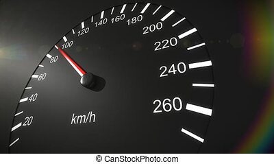 automobile, tachimetro, hd