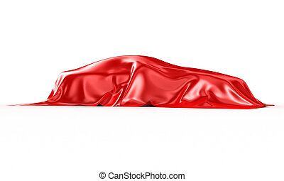 Automobile - The automobile covered with a silk fabric