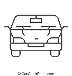 Automobile thin line icon. Car vector illustration isolated on white. Vehicle outline style design, designed for web and app. Eps 10.