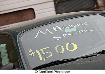 automobile, usato, vendite