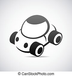 Automobile vector logo design template