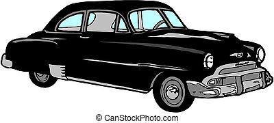 automobile, vendemmia, vecchio