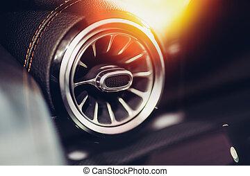 automobile, ventilazione, primo piano