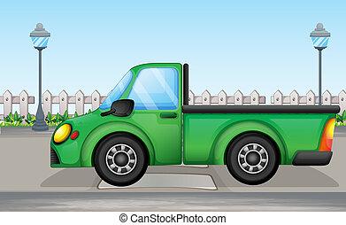 automobile, verde