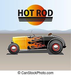 automobile, verga calda