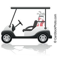 automobile, vettore, golf, illustrazione