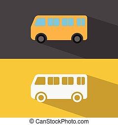 automobile, vettore, icon.