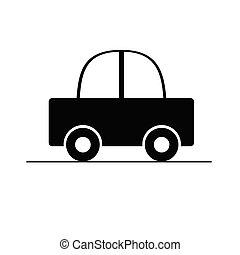 automobile, vettore, nero, illustrazione